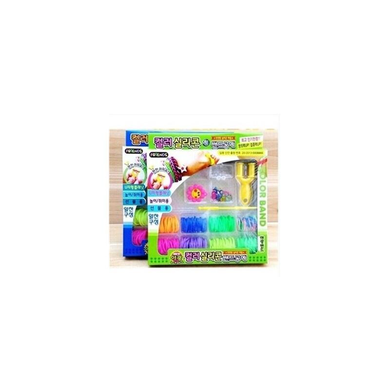 韩国彩虹编织工艺皮筋儿童diy手工制作玩具女孩织造手镯手链手绳1