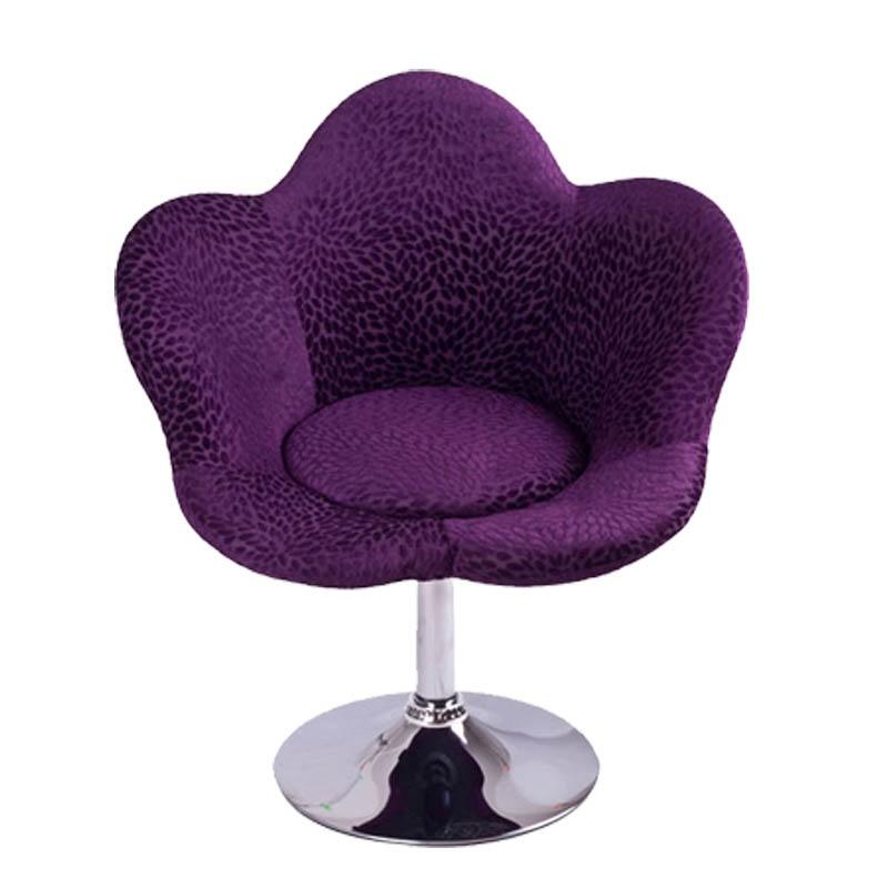 惠万家休闲家用电脑椅时尚创意转椅花朵椅可升降单人沙发懒人椅子