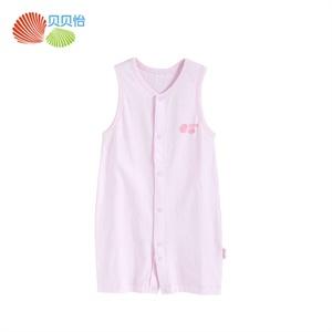 贝贝怡 纯棉婴儿衣服 夏季服装宝宝夏装 新生儿短袖哈衣爬服全棉衣服 婴儿连体衣123