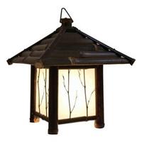 出口日本 纯手工编制日式壁灯手工工艺壁灯庭院景观灯挂灯图片
