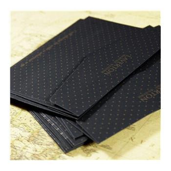 酷黑欧式明信片黑色信封