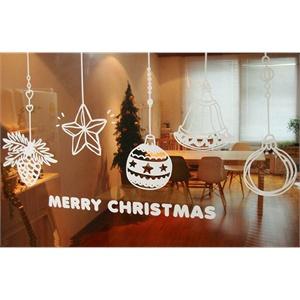 圣诞装饰四 新饰线墙贴 圣诞节配饰创意礼物墙壁贴纸背景墙防水