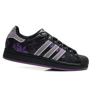 阿迪达斯板鞋 adidas 三叶草板鞋 紫玫瑰女鞋014714