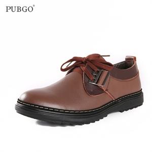 Pubgo步步高男鞋 时尚都市舒适真皮牛皮休闲鞋 简约商务日常休闲男皮鞋M10494