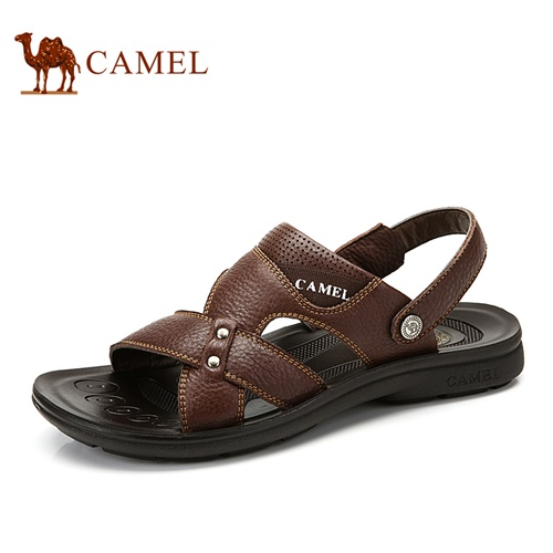 camel骆驼男鞋凉鞋 日常休闲夏季新款鞋子 露趾套筒透气沙滩鞋