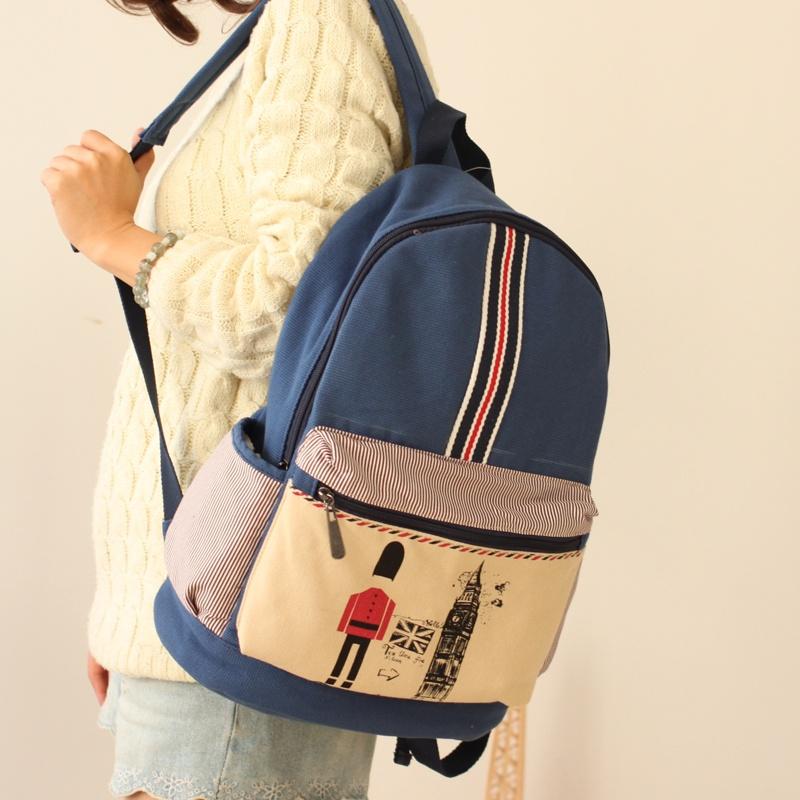 y韩版双肩包女中学生书包休闲旅行包电脑图片