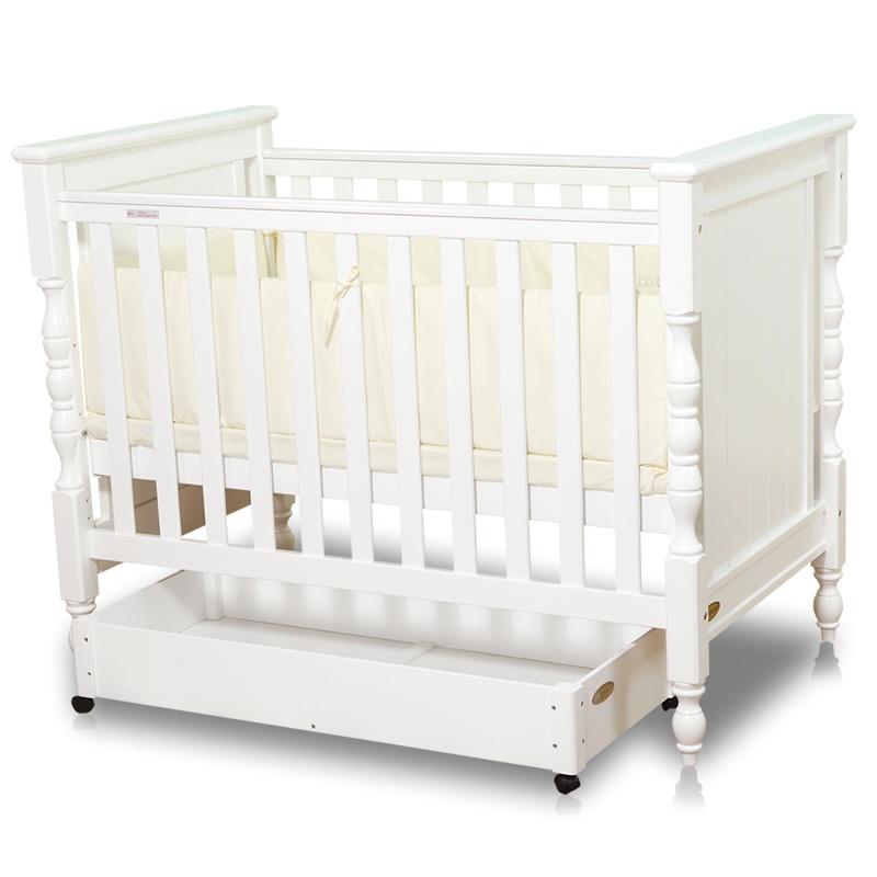 爱斯博儿婴儿床实木欧式松木环保漆bb宝宝床白色出口多功能儿童床