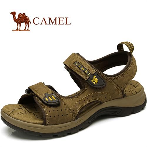 CAMEL骆驼男鞋 男凉鞋 真皮男款凉鞋 日常休闲沙滩鞋 82308604