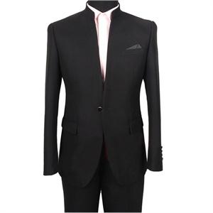 今年新款 皮尔卡丹 男士西服套装 中山装 立领 西服 蓝色802