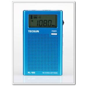 德生pl-100袖珍式数字调谐立体声dsp收音机
