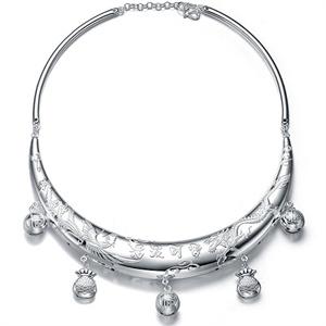 张银匠 S990足银宝宝项圈 古典女款银项圈 四款可选