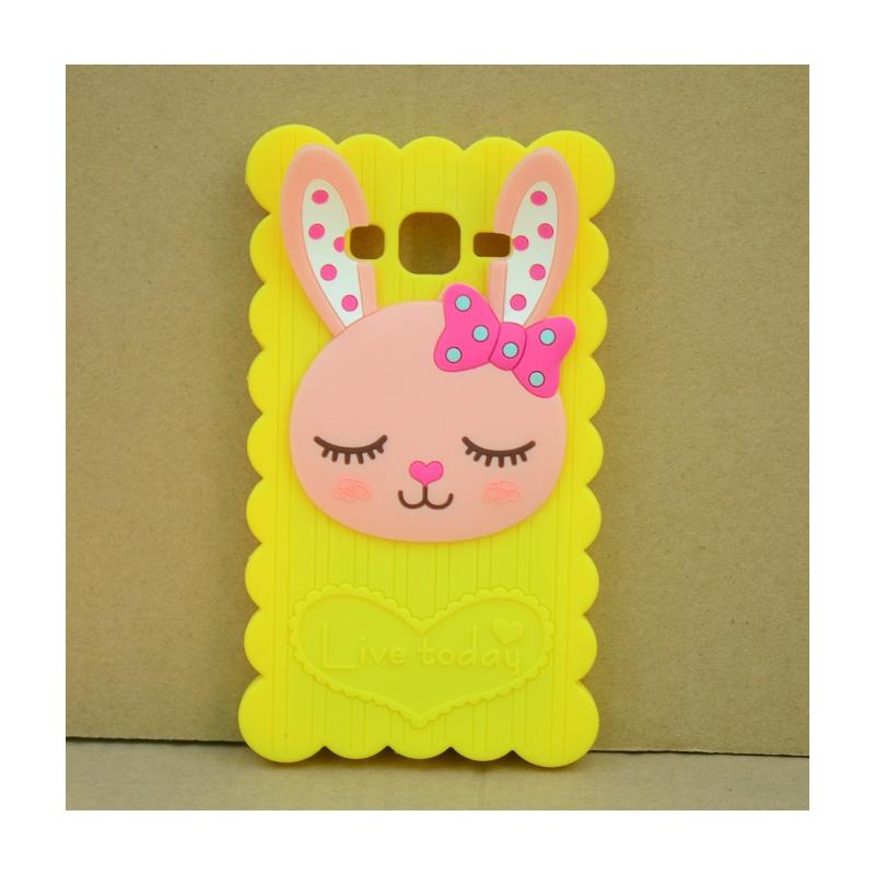 shuke 三星g7106卡通手机套 卡通硅胶套 g7108可爱兔子手机外壳保护套