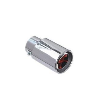 通用型 双筒风轮式汽车排气管尾喉消声器 平口圆 hl 7856高清图片