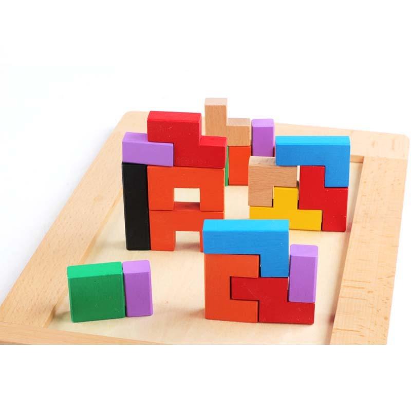 小硕士 俄罗斯方块积木 拼图益智早教玩具 儿童颜色认知玩具节生日