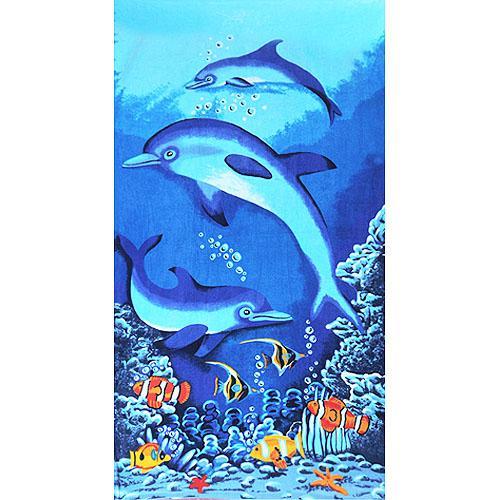 喜盈门蓝色海洋沙滩浴巾