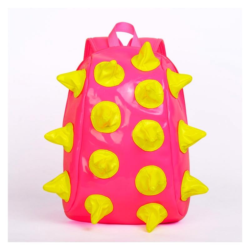 p 可爱卡通小刺猬造型幼儿园书包儿童背包男女bb包双肩包_粉色