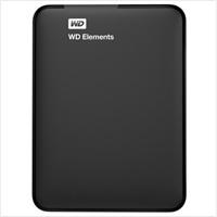 西部数据(WD)新 Elements Portable 2.5英寸 USB3.0 移动硬盘 1T (WDBUZG0010BBK)