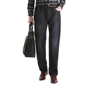 柒牌男装2014秋装上市男士商务时尚 无褶牛仔裤 E99S863D109