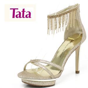 他她tata 2011夏季黄金布女凉鞋