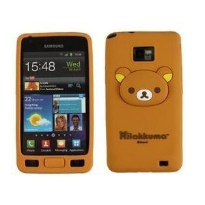 三星i9100 i9108手机套保护壳立体卡通小熊轻松熊外套