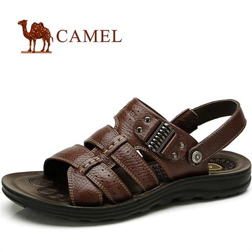 CAMEL骆驼 男凉鞋 头层牛皮沙滩鞋 日常休闲沙滩男凉鞋 82203614