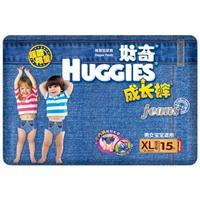 HUGGIES 好奇 牛仔成长裤 加大号XL 15片/包