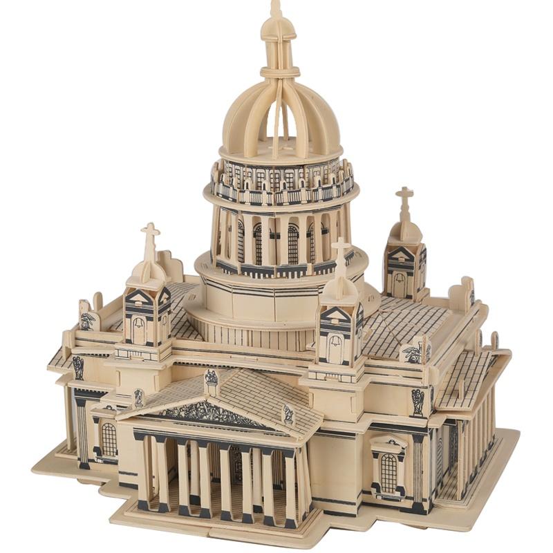 玩具立体拼插 木质 木制3D立体 拼图