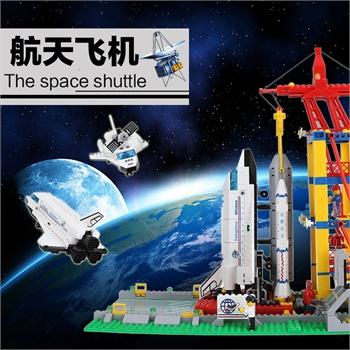 启蒙儿童益智拼装积木玩具拼插拼图军事航天系列飞机