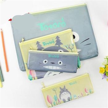 umi韩国文具创意a4 a5文件袋可爱卡通龙猫收纳袋笔袋资料袋