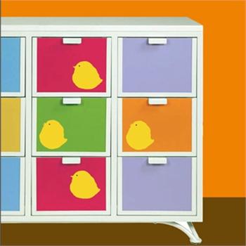 可爱小鸡新饰线墙贴纸儿童房墙壁贴纸卡通装饰背景墙