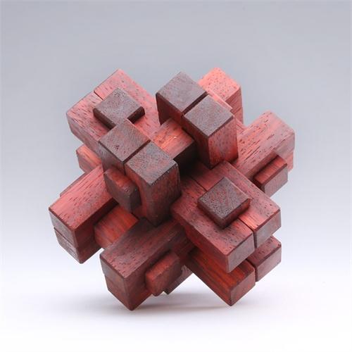 华夏艺林 鲁班锁(红木)连心锁 孔明锁 八卦锁 老少皆宜的玩具礼品