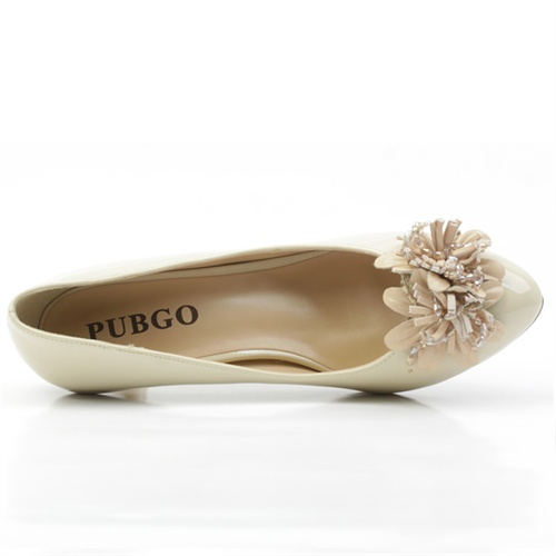 pubgo专柜春款糖果色中跟女鞋