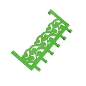 绿色祥云团纹矢量图