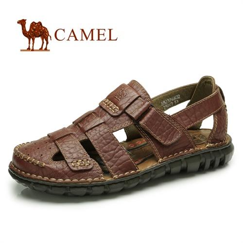 CAMEL骆驼 男鞋 2013夏季 真皮牛皮男凉鞋 休闲日常男士沙滩鞋82396602