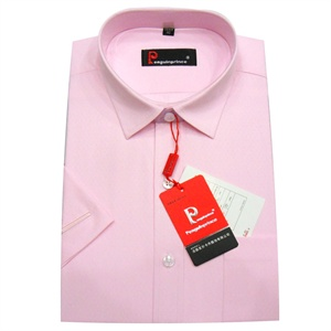 皮尔卡丹Pengulnprince 男士正装衬衫 男衫 灰条纹 粉条纹衬衣 汗衫 商务衬衫