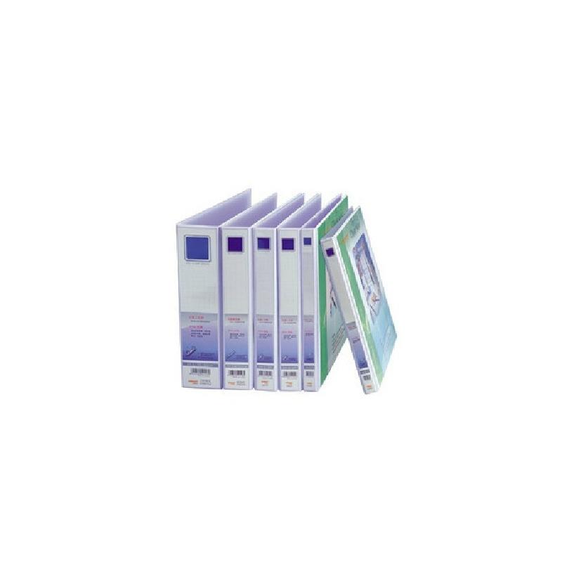 金得利文具 型号:3803D A4 1.5寸D型3孔PVC纸板快捞 背宽35mm封面带 插袋 价格/个
