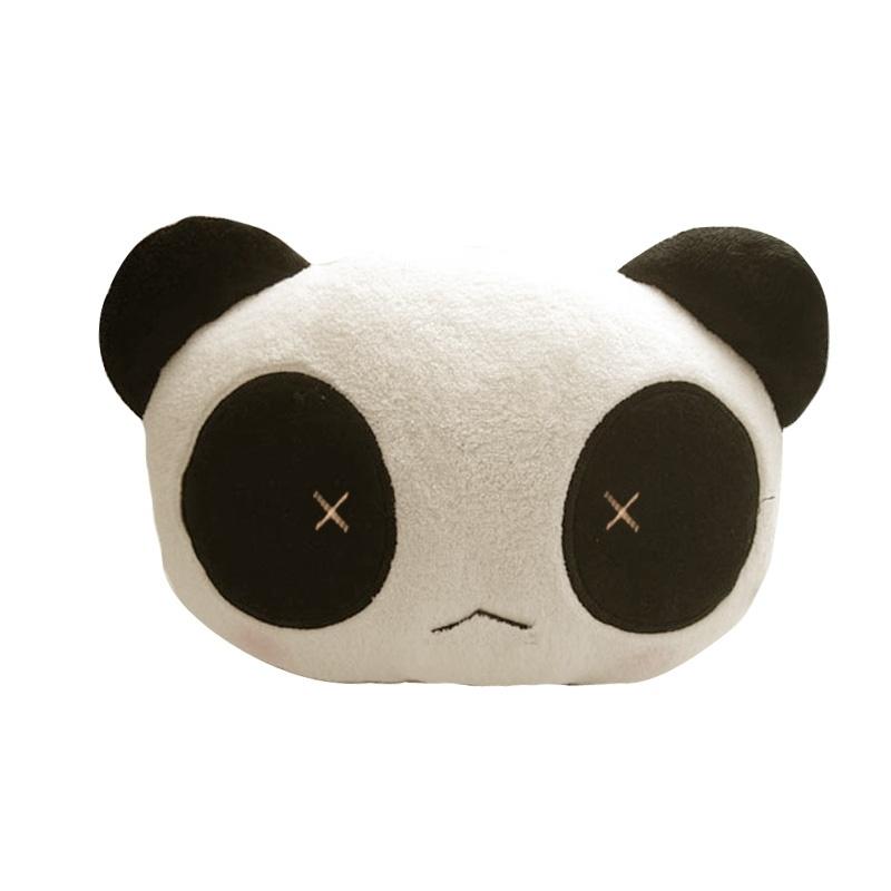 karcle/汽车毛绒颈枕 可爱熊猫头枕 车用护颈枕 汽车头枕 座椅靠枕头