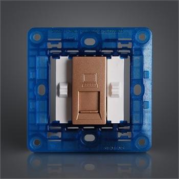 西门子开关插座灵致香槟金电脑插座面板