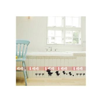 新饰线墙贴 小可爱三 衣柜背景墙壁纸田园衣柜贴纸韩国装饰画
