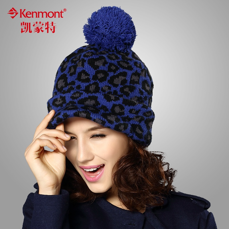 新款enmont冬季帽子女韩版可爱毛线帽 鸭舌帽 秋冬女生帽子潮帽1513