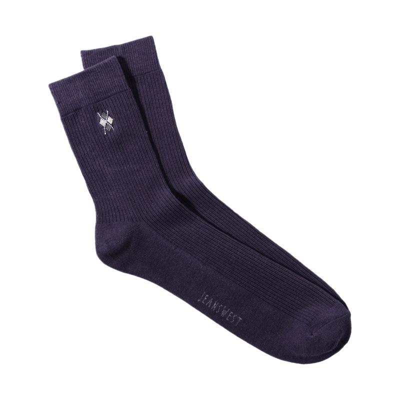 夏装 真维斯男装 暗织坑条中袜jw-30-912601_2360 紫红色,f