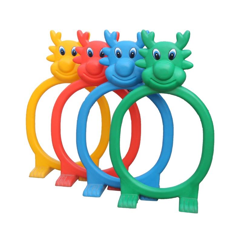 海洋动物钻洞 儿童塑料游戏钻圈 幼儿园玩具隧道 立体钻洞 4件套_彩色