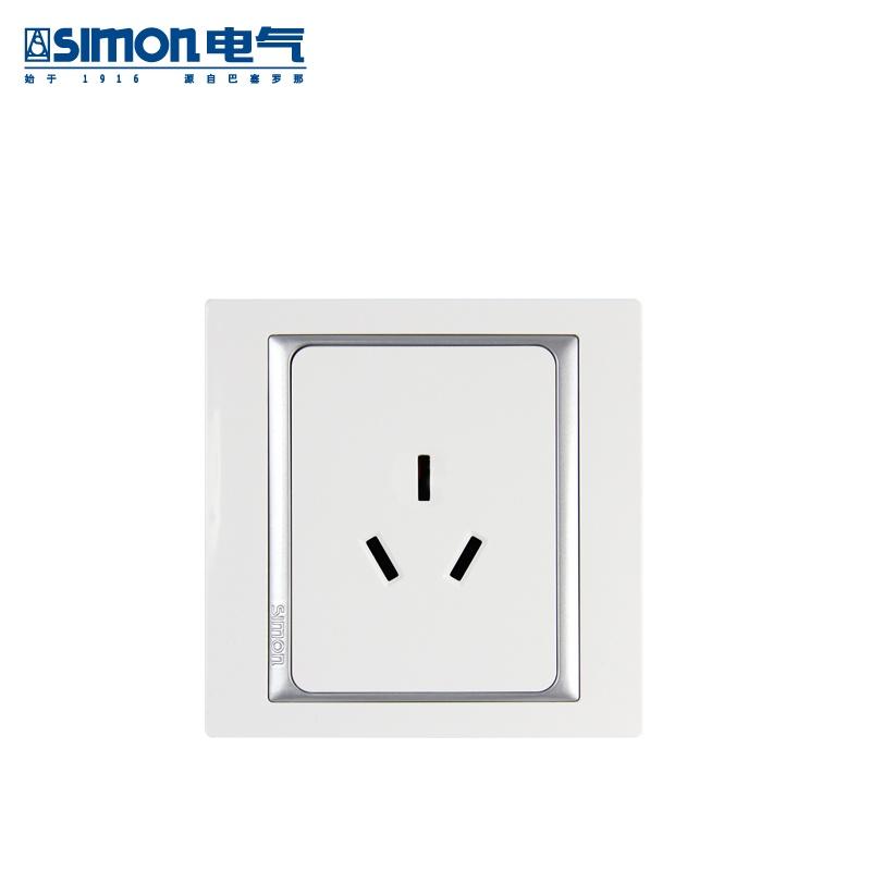 西蒙simon开关插座面板58系列10a三孔s51081