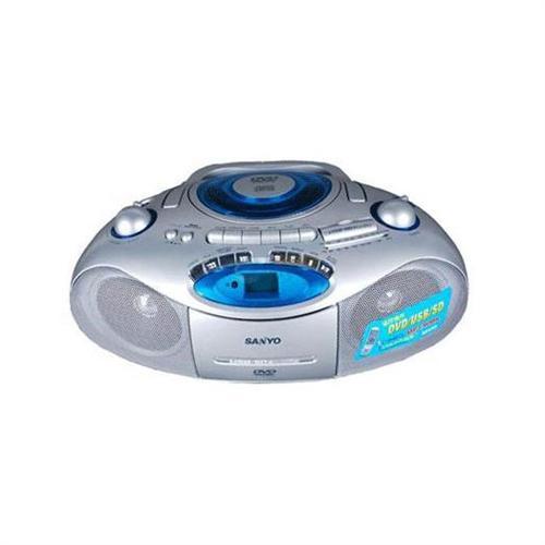 三洋mcd-dv695m镭射dvd卡式双声道收录机