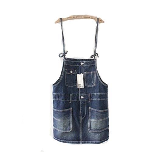 女士铁环吊扣百搭范牛仔背带裙价格(怎么样)