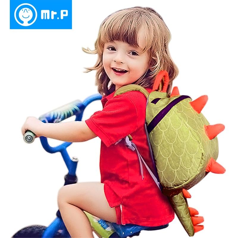 p可爱小恐龙2-3-6岁幼儿园书包 宝宝背包男韩版女孩减负卡通儿童双肩