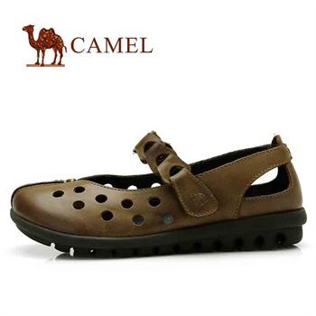 骆驼 女鞋 真皮透气 女士休闲鞋