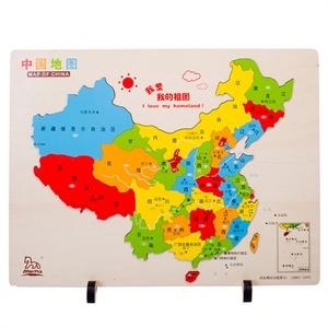 木马智慧 中国地图 儿童益智积木玩具 21135