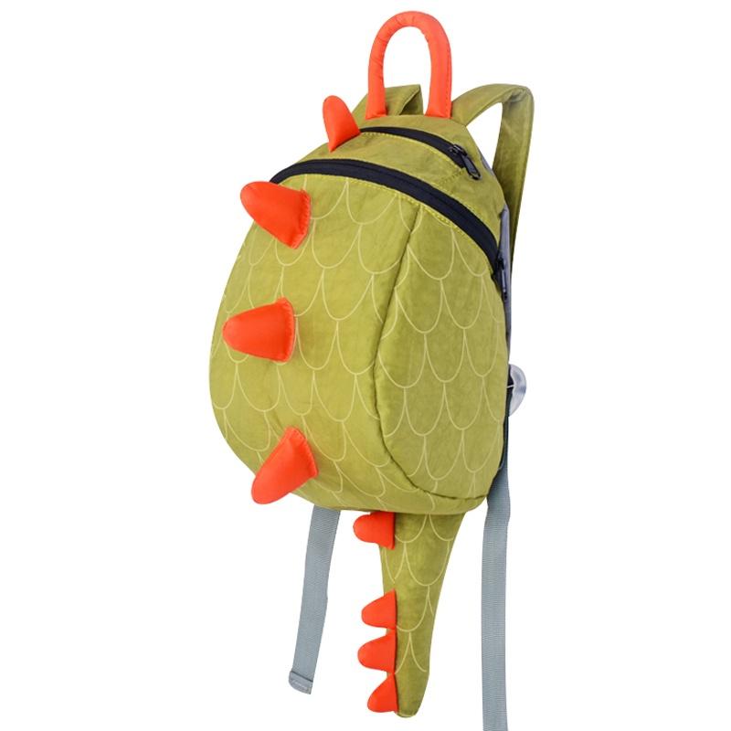 p 创意潮流时尚可爱小恐龙儿童书包背包幼儿园书包男女bb包_绿色