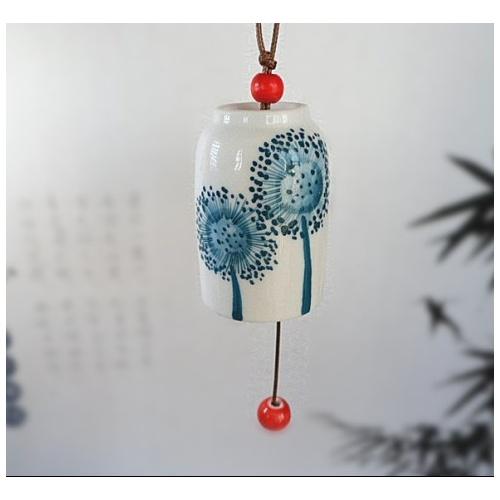 强瓷夺礼 陶瓷摆件 蒲公英风铃